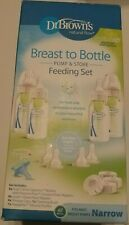 Dr Browns Breast to Bottle Feeding Set with Slow Flow Nipples