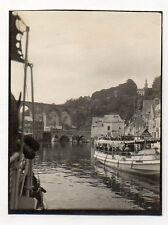 PHOTO ANCIENNE - N&B Promenade Bateau Vedette Dinardaise Dinard Vers 1910