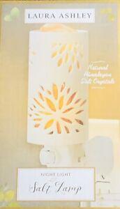 Night Light Salt Lamp. White/orange color. Laura Ashley Brand.