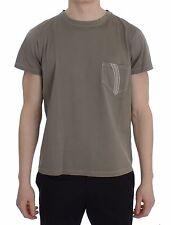 NEW $200 ERMANNO SCERVINO Beachwear T-shirt Green Kaki Cotton Crewneck s. 48 / M
