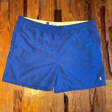 Polo Ralph Lauren 3XB Big Tall Blue Yellow Pony Logo Swim Trunks Shorts Swimwear