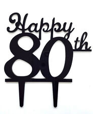Happy 80th Birthday Anniversary Number Cake Topper Party Decoration Favor Sign
