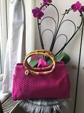 the sak crochet Hand Bag With Bamboo Handles