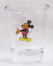 Mic key Mouse Image on Clear Shot Glass