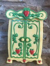 RARE Strawberry Shortcake Berry Happy Home Doll Furniture Armoire Wardrobe 1980s