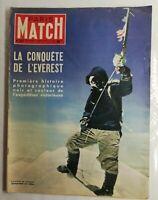 N119 Magazine Paris-Match N°227 25-1  juill-août 1953 La conquête de l'Everest