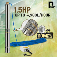 Protege PTGWPDEP1595 1.5HP Submersible Bore Water Pump - Stainless Steel