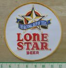"""LONE STAR BEER """"THE NATIONAL BEER OF TEXAS"""" CLOTH SEW ON PATCH NEW"""