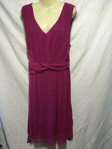 AVELLA Dark Pink floaty Dress SZ 24