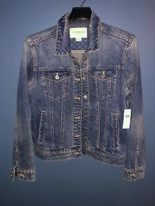 NWT Pilcro and the Letterpress by Anthropologie Small Denim Trucker Jean Jacket