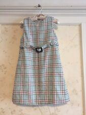 NWT Janie And Jack Girls Italian Wool Blend Plaid Jumper Dress 6 Blue