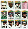 1977 Topps OAKLAND RAIDERS Football 18 card team set KEN STABLER Dave Casper RC