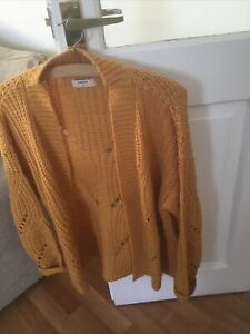 Matalan Chunky Knit Gold /Ochre /Mustard Cardigan Medium