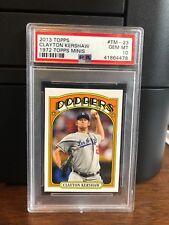 2013 Topps 1972 Topps Minis Clayton Kershaw Baseball Card #TM-23 PSA 10