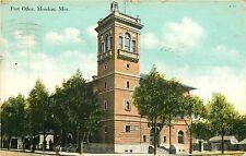 Mississippi, MS, Meridian, Post Office 1909 Postcard