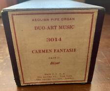 Duo-Art Music Aeolian Pipe Organ Player Piano Roll-3014 Carmen Fantasie - Bizet