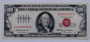 1966 - Red Seal $100 U.S. Note - High Grade, Light Circulated