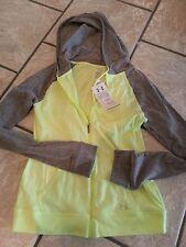 NWT Ladies Under Armour hoodie zip jacket sz. S $49 Ladies athletic green /gray