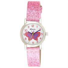Girls Pink Watch Glitter Butterfly By Ravel R1808. 3