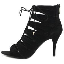 Jessica Simpson Mahiri Gladiator Ankle BOOTIES Black Suede 9 US / 39 EU