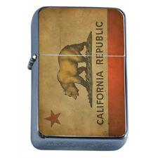 Windproof Refillable Oil Lighter California Bear D3 Republic Cali Flag