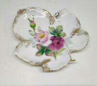 """LAFTON CHINA vintage floral small china dish hand painted 5"""" JAPAN"""