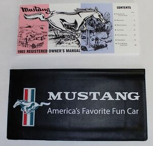 New! 1965 Ford MUSTANG Owners Manual and Wallet Cover Free Shipping