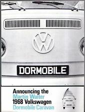 Volkswagen Transporter Dormobile Caravan 1967-68 UK Market Foldout Brochure