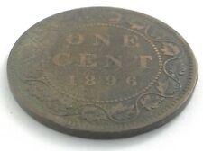 1896 Canada One 1 Cent Large Penny Copper Canadian Circulated Victoria Coin L547