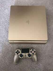 Sony PlayStation 4 (PS4) Slim Gold Limited Edition 1TB Console - GREAT CONDITION