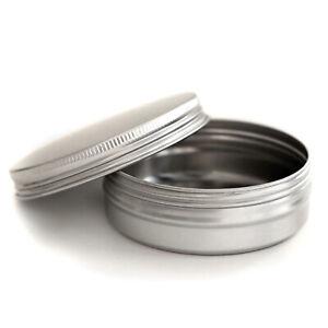 Durable 100ml Empty Silver Aluminium Cosmetic Tin Pot Lip Balm Jar Container jma