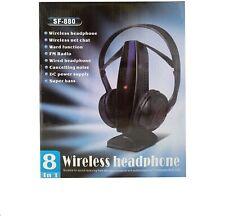 Cascos auriculares inalambrico Audifonos Radio FM 8 EN 1 para tv LCD LED PC