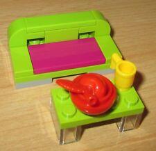 Lego City - Friends Total Schickes Sofa u. Tisch m. etwas Zubehör