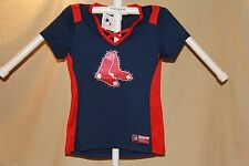 BOSTON RED SOX MLB Fan Fashion JERSEY/Shirt  by MAJESTIC  Womens Large  NWT  $55