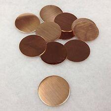 "RMP Stamping Blanks, 1"" Round, 16 Oz. Copper, 25.4mm, 24 Ga. - 10 pack"