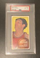 1970 Topps Jerry Sloan RC #148 HOF Rookie Card CHICAGO BULLS PSA 8 JAZZ COACH