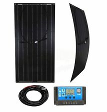 100w Flexible Solar Panel Charging Kit Marine Caravan Charger Controller BlackK1