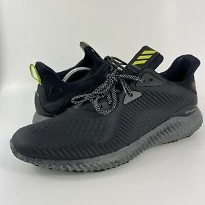 Adidas Alphabounce Black/Yellow Running Shoes BW1223 Men's Size 12