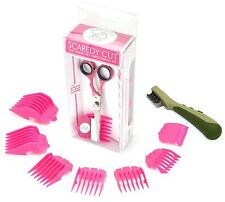 SCAREDY CUT Silent Clipper, PINK, with Safari Mat Remover, GREEN for Hairy Dogs