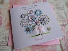 Personalised Handmade Birthday Card, 40th,50th, 60th,70th, Mum, Sister, Friend