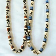 2 MENS METAL BEAD NECKLACES JL300 necklace jewelry men fashion beaded neck lace