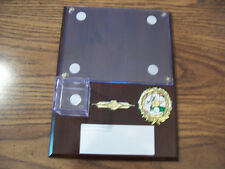 "GOLF HOLE IN ONE PLAQUE 9""X12"" PERSONAL SPECIAL ORDER PLATE IS  2"" x 5"""