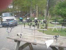 "24""  adjustable T-bar W/ stainless steel post & 4 coated holders Reel Fisherman"
