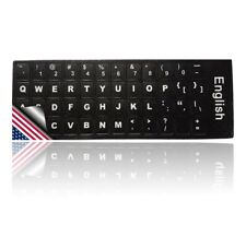 LEDELI Tastaturaufkleber Tastatur Aufkleber Keyboard Sticker QWERTY US Layout