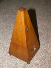 More details for antique walnut wood metronome -(in working order) 24cm tall
