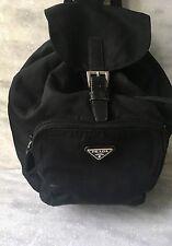 Prada Small Back Pack/Ruck sack Bag Nylon Black Vintage.