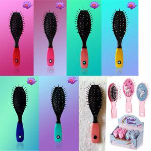 Girls Stylist Professional Soft Multicoloured Cushion Hair Brush Massage Paddle