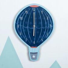 Beau Contemporain pour ENFANTS Garçons Ballon à Air Chaud Horloge Murale Bleu
