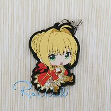 Japan Anime Fate / Grand Order Red Saber Nero Keychain Rubber Strap Phone Charm