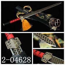 "HAND FORGE CHINESE SWORD ""HAN JIAN""(漢劍)CARBON STEELS KATANA ALLOY FITTING#067"